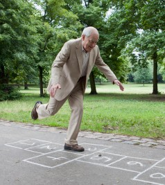 Man hopscotch